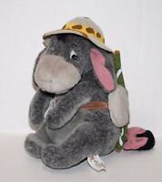 "EEYORE SAFARI HAT 8"" Plush Soft Toy Gray Donkey Stuffed Animal Winnie The Pooh"