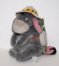 "EEYORE SAFARI HAT 8"" Plush Soft Toy Gray Donkey Stuffed Animal Winnie The Pooh"