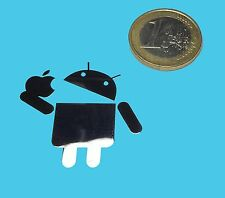 ANDROID vs. APPLE METALISSED CHROME EFFECT STICKER LOGO AUFKLEBER 35x35mm [487]