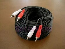 100Ft 2 RCA Male to 2 RCA Male Audio Patch Cord Cable TV Stereo Receiver 100 Ft
