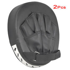 2x focus pads hook jab mitts boxing gloves sparring punch bag training pair C1C7