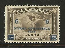 Canada #C4, 1932 Air Mail Overprint - Mercury & Globe, Unused Hinged
