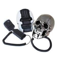 1x Novelty Skull Head Shaped Wired Telephone Flashing Eyes Home Desk Table Phone