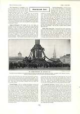 1902 Nelson Monument On Trafalgar Day Hotel Porter Eccentricities