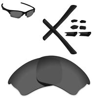Hawkry Polarized Replacement Lenses & Black Kit for-Oakley Half Jacket XLJ - Opt