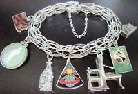 Gorgeous Sterling Silver Vintage Charm Bracelet Wedgewood Mechanical & MORE!