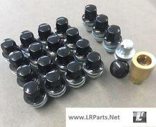 BLACK ALLOY WHEEL NUTS LOCKING NUTS FOR RANGE ROVER L322 16 & 4 LOCK NUT LRC1110