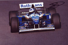 David Coulthard Signed 8X12 inches Williams F1 Photo