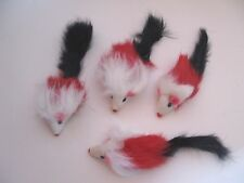 Cat Toy 20 Rattle Real Long Fur Mice/Catnip/Brand new+++FREE 2 toys