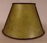 "6"" x 12"" x7 1/2"" Craftsmen Green Empire Style Mica UNO Bridge Floor Lamp Shade"