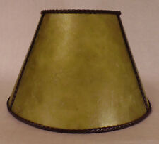 "6"" x 12"" x7 1/2"" Craftsmen Green Empire Style Mica UNO Bridge Floor Lamp Shade"