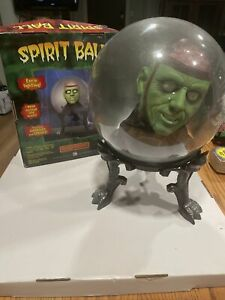 "GEMMY MONSTER BRAIN LARGE 14"" SPIRIT CRYSTAL BALL ANIMATED HALLOWEEN No Cord Box"