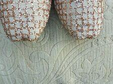 Durazno/oro señoras Indio Boda Khussa tamaño del zapato 5