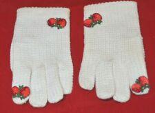 Hochshild Kohn Ladies Child's Gloves Cotton Knitted Italy Strawberry Vintage