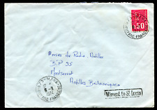 GUYANE FRANCAISE: (20873) MANA cancel/postmark Missent to St. Lucia cover