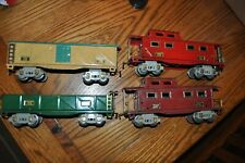 4 Prewar American Flyer 0 guage Cars Very Nice All for One Price