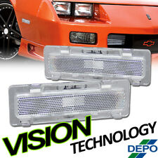 Depo Chrome Front Bumper Reflector Lights Lamp For 85-92 Chevy Camaro/Firebird
