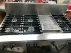 """Kitchen Aid 48"""" Pro Stainless Range top 6 + griddle ,  photo"""