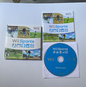 Wii Sports Nintendo Video Game Complete w/Sleeve & Manual TESTED