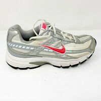 Nike Womens Initiator 394053-101 White Gray Running Shoes Lace Up Size 6