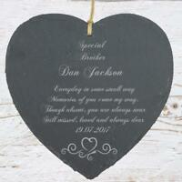 Personalised Brother Memorial Remembrance Slate Plaque Heart Symbol MEM-BR1