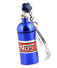 Mini Blue NOS Bottle Oxide Nitrous Pill Stash Box Car Key/chain Keyring Keyfob