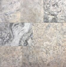 Silver 4x4 Honed Filled Travertine Mosaic Floor and Wall Tile (Sold by SF; 9PCS)
