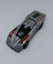 1984 Mattel Hot Wheels Crack-Ups Turbo Race Car Silver Loose Free Shipping