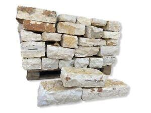 Natursteinmauer Gartenmauersteine Mauersteine Trockenmauersteine Gelb 1000Kg
