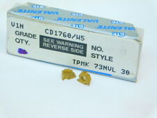 NEW SURPLUS 9PCS. VALENITE  TPMK  73NVL30  GRADE: V1N  CARBIDE INSERTS