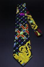 GIANNI VERSACE COUTURE Tie. Vibrant Colorful Cross w Jewelry. Mint Condition.