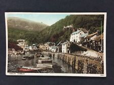 Vintage RPPC: Devon: #T174: Lynmouth Harbour: Tinted: Posted 1939