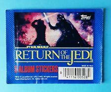 1983 Topps  Star Wars Return of the Jedi Sticker Pack - pochette bustina tüte 1