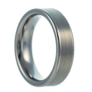 Tungsten Carbide Band Wedding Engagement Ring Brushed Slim Classic Comfort-fit
