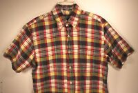 Pendleton Oceanside Men's Short Sleeve Button-Front Casual Shirt Plaid size M
