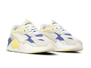Puma RS-X3 Twill AirMesh Unisex Lifestyle Sneakers New White Hazy Blue 368845-04