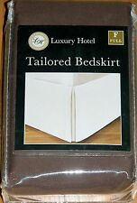 LEVINSOHN LUXURY HOTEL TAILORED BED SKIRT BROWN FULL DROP 14 IN