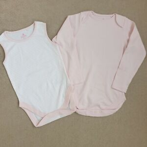 Baby Girls 12-18/ 18-24 Months Vest Bodysuits Pink New NEXT BABY Toddler