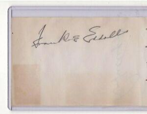 FRANK EDDOLLS & RAY GETLIFFE SIGNED 1940's NHL AUTOGRAPH ALBUM PAGE CANADIENS