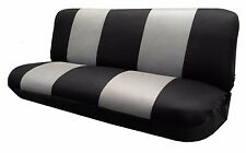 Mesh Black/Gray FULL SIZE BENCH Seat Cover  Fits Most Classic cars