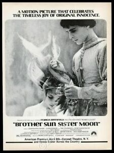 1973 Brother Sun Sister Moon movie release vintage trade print ad