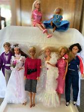 Vintage 1980s Barbie Dolls (Lot of 8 dolls, plus accessories)