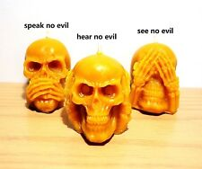 decorative 100% pure beeswax skull candles Christmas holiday gift set