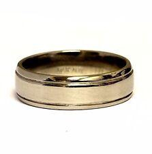 14k white gold 5.80mm comfort fit wedding band ring 6.0g estate vintage