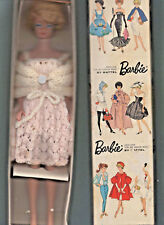 Rare Side Part Platinum Bubblecut Barbie In Original Box Never Played With