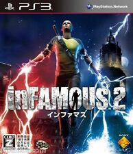 Used PS3 inFAMOUS 2 PLAYSTATION 3 SONY JAPAN JAPANESE IMPORT