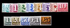 GB 1970 decimale Postage Dues COMPLETA sgd77 / 89 Unmounted MENTA GATTO di 40 sterline fp182