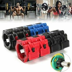 2Pcs Olympic 2'' Spinlock Collars Barbell Dumbell Clips Clamp Weight Bar Lock