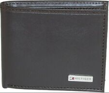 Tommy Hilfiger Men's Leather Fordham Bifold BROWN Wallet with Coin Pocket