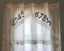 IKEA Curtains Kids Room Two Piece Numbers Window White Long Childs Decor